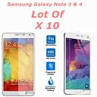 10x Wholesale Lot Tempered Glass Screen Protector for Samsung Galaxy Note 3 4