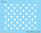Joanie STENCIL (50) Stars REC. Flag USA Patriotic Country American Custom DIY