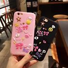 3D Cartoon cute Graffiti Smile Bow Rubber soft Case Cover for iPhone 7 6 6S Plus