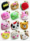 Women's Cute Cartoon Plush Small Coin Purse Wallet Case Bag