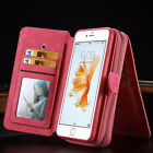 Leather Multi-function Card Holder Purse Phone Cover Case For iPhone 6 6S Plus