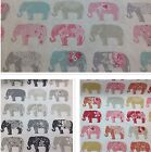 Clarke and Clarke-Studio G-Elephants Cotton Print Fabric.For Upholstery/Curtains
