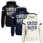 Crosshatch Chassis Mens Hoodie Long Sleeved Hoody Overhead Hooded Jacket Top