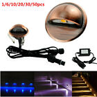 12V Bronze Half Moon Outdoor Garden Path Plinth LED Deck Stairs Step Lights Kit