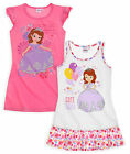 Girls Disney Princess Sofia Nightdress New Kids 100% Cotton Sleepwear 2-8 Years