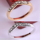 Gift New Unisex Women Men Alloy V Shape Crystal Ring Rings lovers Couples Gift