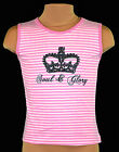 Girls Vest Tops Stripe Soul & Glory Summer Top Kids Clothes Ages 5-6 & 7-8 Years