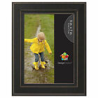 kieva black solid wood picture frame by
