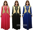 Plus Size Muslim Women Abaya Dress Islamic Clothing Kaftan Dubai Dress