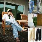 New Mens Casual Cotton Linen Slacks Loose Pants Drawstring Long Trousers Summer