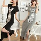 Kawaii Clothing Ropa Cute Dress Long Cat Black Gray Vestido Harajuku Animal Ears