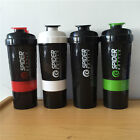 Shaker Bottle Benefit Body-building Sports Water Bottles 3 in 1 Fitness Mixer