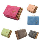 Women Vintage Layers Suede Fabric Zipper Chic Design Handbag Card Wallet New