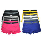 Angelina Womens Cotton Sporty Boxer Shorts Panties 12 Pack