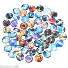 Gift Wholesale Randomly Galaxy Glass Flatback Scrapbooking Dome Cabochons 20mm