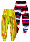 Girls Vibrant Striped Harem Pants New Kids Dance Troupe Ali Babas Age 7-13 Years