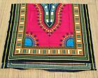 unstitched African Dashiki fabric for one Africa poncho shirt - Pink