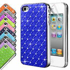 New Hard Back Diamond Case Cover For APPLE iPhone 4 4S Free Screen Protector