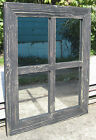 Reclaimed Barn Wood 4-Pane Window Wall Hanging Mirror 21x25 (Many Colors!)