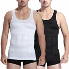 Men's Slim Slimming Chest Tummy Stretch Under Shirt Waist Body Shaper Vest New