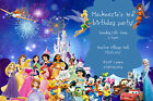 Personalised Disney Princess & Character Birthday Party Invites inc Envelopes D5