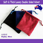 Luxury 100 DOUBLE Sided Velvet Jewellery Gift Pouch Bag-10x12cm | AUSSIE Seller