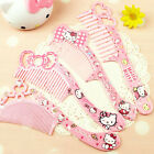 1Pc Cute Girls Pink Comb Hair Brush Comfortable Touch Antistatic Cosmetics