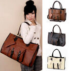 Women's PU Leather Shoulder Bag Hobo Satchel Tote Messenger Handbag + Coin Purse