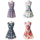 Women Girls Dress Floral Dresses Sleeveless Bohemian Summer Beach Chiffon