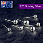 925 Sterling Silver Solid Classic Small Ball Bead Earrings Ear Piercing Studs