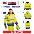 High Visibility Rain Jacket Contrast Bomber Work, 3-in-1, M-6XL,Portwest UC465