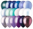 """12 - 12"""" Solid Latex Balloons Winter Inspired Color Palette Ice Skate Party Snow"""