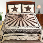 Western Texas Star Ray Horse Shoe Quilt Bedspread Comfort...
