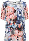 Womens Plus Short Sleeve Top Ladies Floral Print Scoop Neck Elasticated 16-26