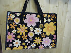 FLOWER PATTERN ECO STRONG RE-USEABLE RECYCLED SHOPPING TRAVEL BAG FREE UK P&P