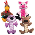 Kong Pudge BraidZ Soft Plush Strong Teething Toys for Small Large Dogs Puppies