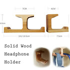 High Quality Classic Solid Wood Headphone Headset Hanger Holder Hook w/ Tape