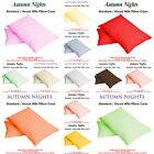 NEW Pillow Case Plain Dyed UK Standard Pillow case/cover Single & Pair