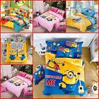 "New Kids ""Despicable Me 2"" printed Bed Quilt Cover Cotton Set Single/Queen/King"