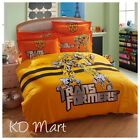 "New Kids ""Transformers""printed Bed Quilt Cover Cotton Set Single/Queen/King"