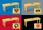 FC137 SOLID WOOD FARMHOUSE STYLE THEMED LOGO DINING BENCH SEAT NATURAL FINISH