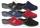 LADIES WOMEN'S LUXURY SLIP ON WEDGED MULE SLIPPER SIZES 3 4 5 6 7 8