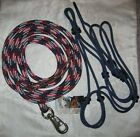 Rope Halter & 12ft Lead with Bull Snap- available in variety of sizes. NEW!!