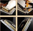 Aluminum Ultra-thin Metal Bumper Case Cover + Mirror Back for iPhone 6 6s Plus