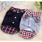 Dog Jacket Plaid Puppy Clothes Winter Warm Large Dog Coat Practical JR