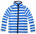 Boys Baby Striped Fleece Zip Jacket New Kids Jumper Blue Top Age 9 - 12 Months