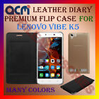 ACM-LEATHER PREMIUM FLIP FLAP CASE for LENOVO VIBE K5 MOBILE FRONT & BACK COVER