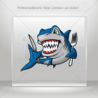 Decals Stickers Shark Hungry Helmet Motorbike Boat Door vinyl Garage mtv ZZ754