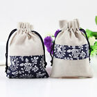 2 x Handmade Cotton Jewellery Gift Bag Pouch (10x14cm) Hot