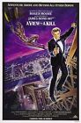 James Bond 007 Classical MOVIE A View to a Kill Movie Silk Fabric Poster $10.45 CAD on eBay